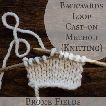 Backwards Loop Cast-on Method {knitting}