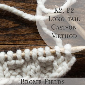 Knitting Tutorial Video : K2, P2 Long Tail Cast-on Method