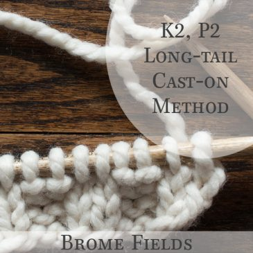 K2, P2 Long-Tail Cast-on Method