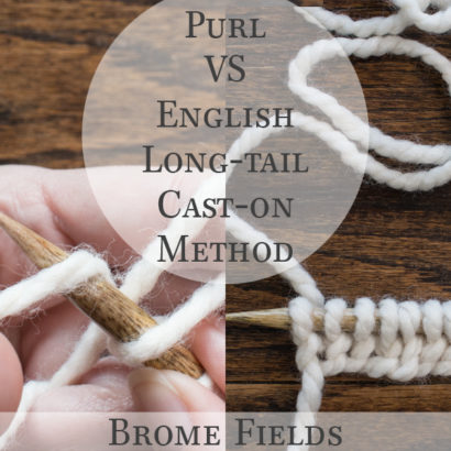 Purl VS English Long-tail Cast-on Method