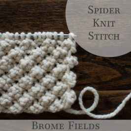 Spider Knit Stitch