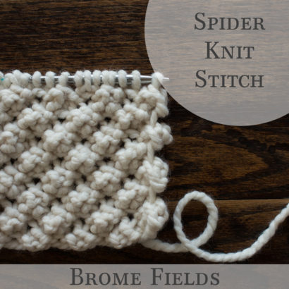 Spider Knit Stitch