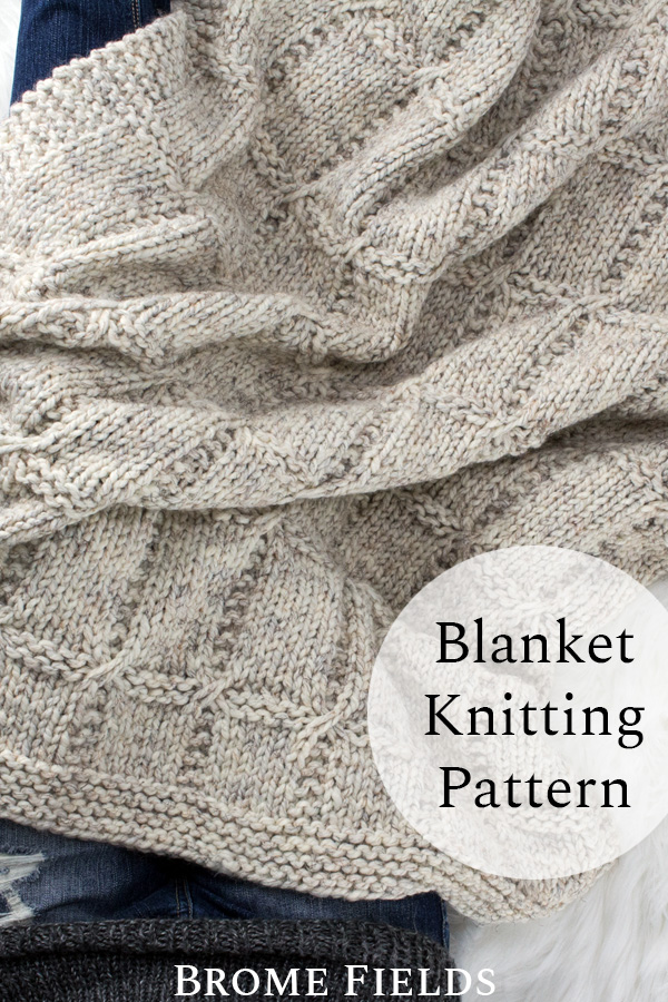 VIRTUOUS : Blanket Knitting Pattern - Brome Fields