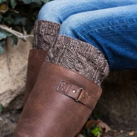 Cable Boot Cuff Knitting Pattern by Brome Fields