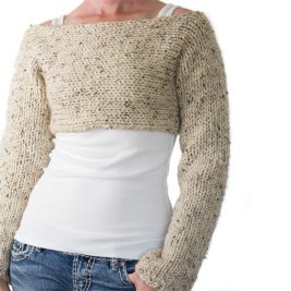 Super easy crop top sweater knitting pattern!