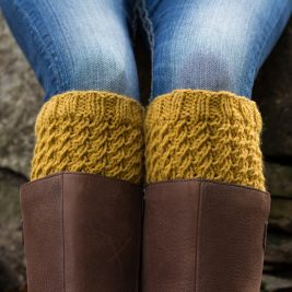 Boot Cuff Knitting Pattern {faux cables} by Brome Fields