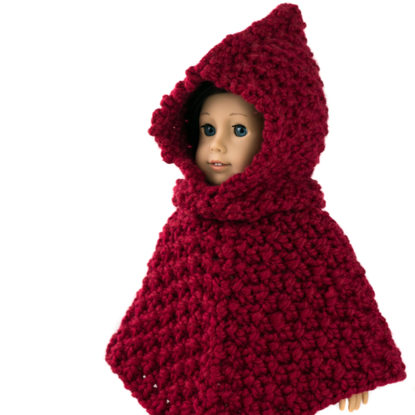 Free Valiant American Girl Doll Hooded Poncho Knitting Pattern