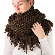 Scarf Cowl FREE Knitting Pattern, super easy, knit flat!