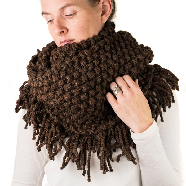 Scarf Cowl FREE Knitting Pattern, super easy, knit flat!