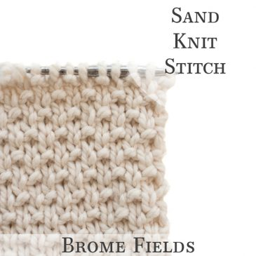 Sand Knit Stitch Video
