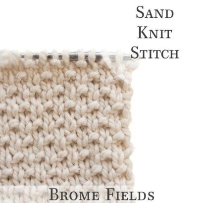 Sand Knit Stitch Video