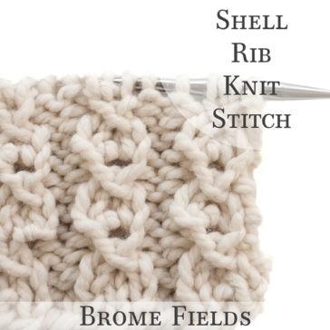 Video Tutorial: Shell Rib Knit Stitch