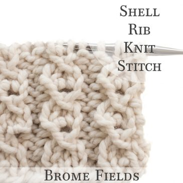 Shell Rib Knit Stitch Video