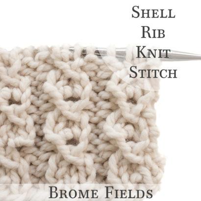 Shell Rib Knit Stitch Video
