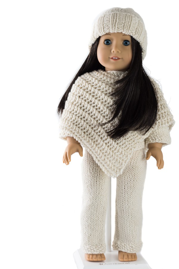 Cozy Outfit : Doll Hat, Sweater, Poncho and Pants Knitting Patterns ...
