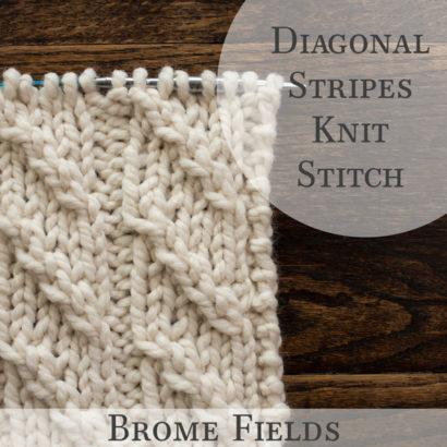 Diagonal Stripes Knit Stitch