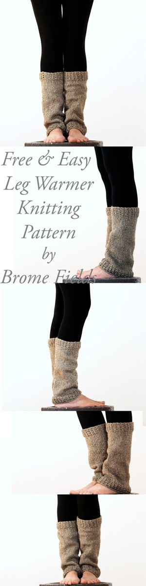 FREE & Easy Leg Warmer Knitting Pattern Perceptiveness by Brome Fields