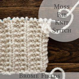 Moss Rib Knit Stitch