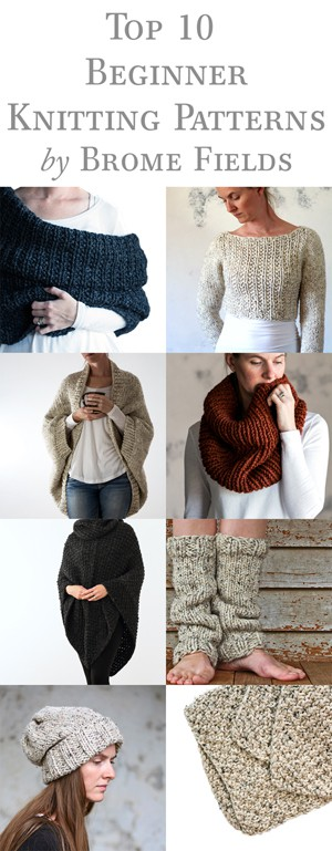 Top 10 Beginner Knitting Patterns Bundle Brome Fields