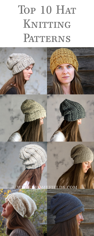 Top 10 Hat Knitting Patterns by Brome Fields