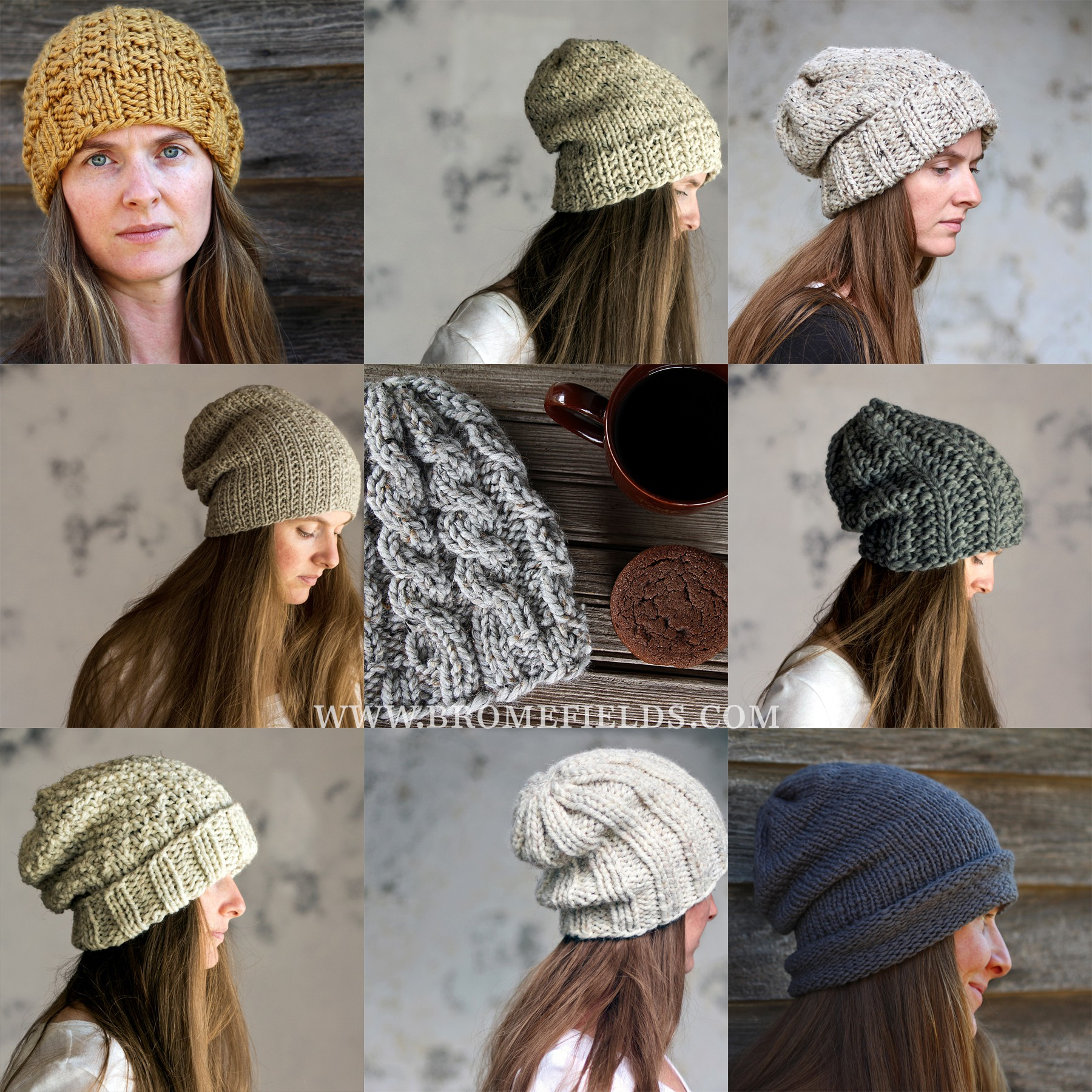 Top 10 Hat Knitting Patterns by Brome Fields - Brome Fields