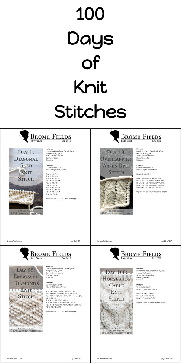 Download 100 Knit Stitches in this Bundle!