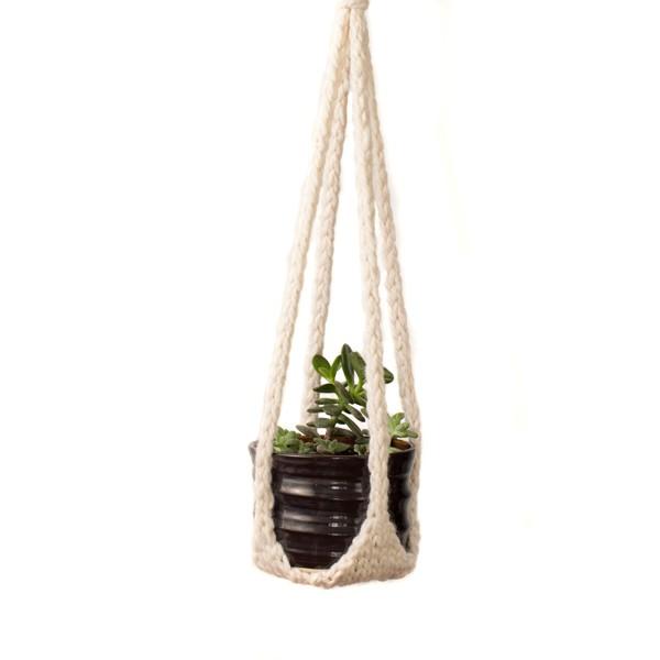 Free Hanging Plant Hanger Knitting Pattern