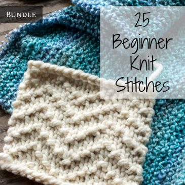 25 Beginner Knit Stitches Bundle