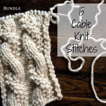 15 Cable Knit Stitches Bundle