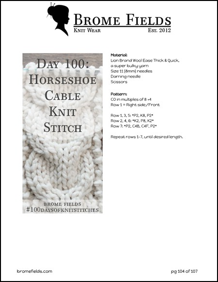 Download 100 Knit Stitches in this eBook!