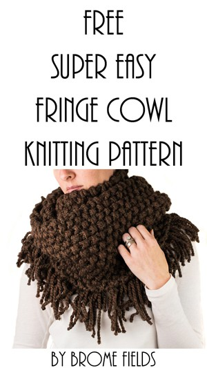 Free & Easy Fringe Cowl Knitting Pattern