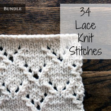 36 Lace Knit Stitches Bundle