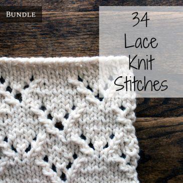 36 Lace Knit Stitches Bundle