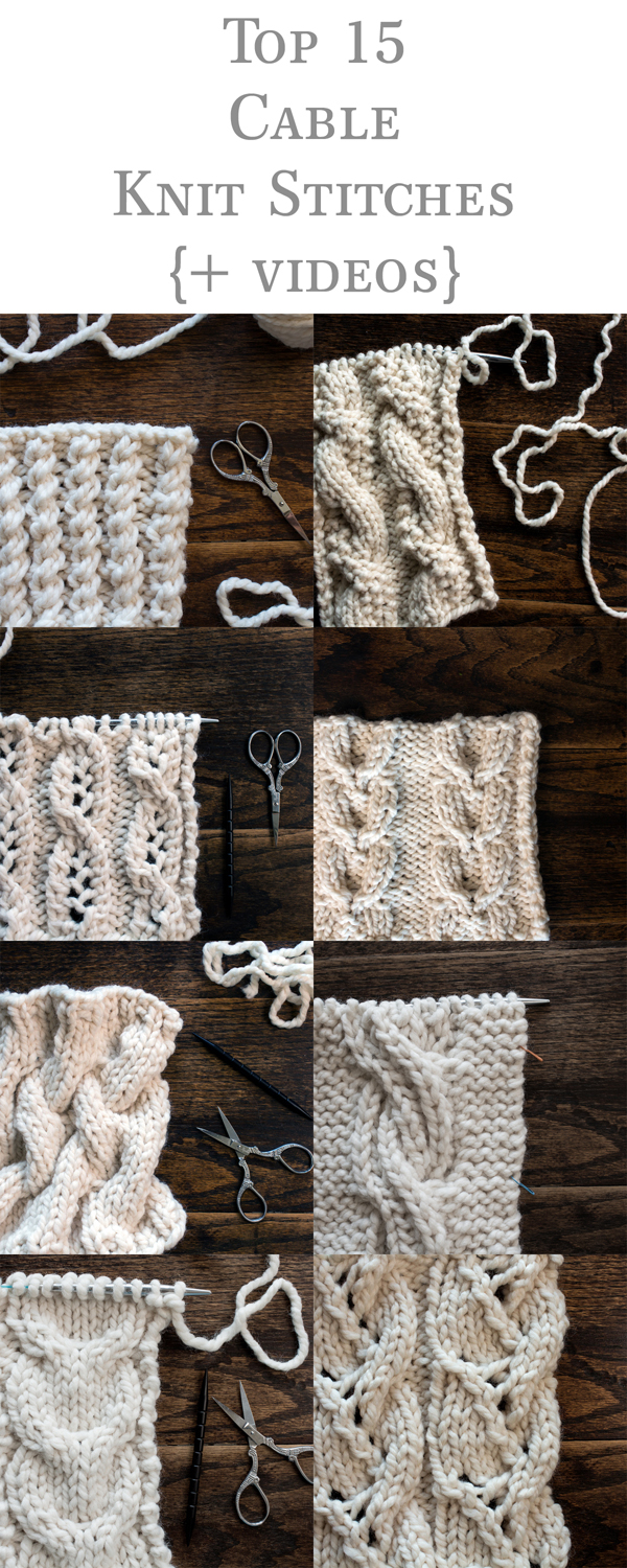 15 Cable Knit Stitches {+videos}