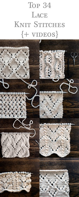 Top 34 Lace Knit Stitches {+videos}