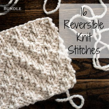 16 Reversible Knit Stitches Bundle