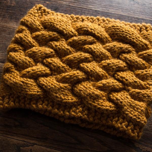 Resourceful Cowl Knitting Pattern Brome Fields