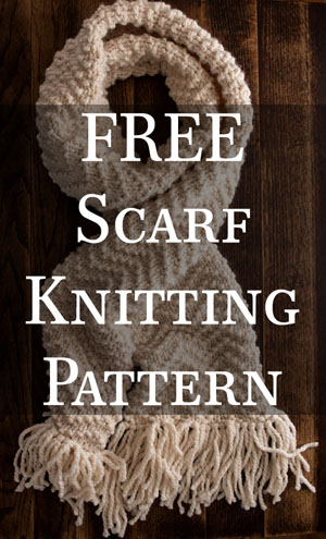 FREE CHEVRON : Scarf Knitting Pattern by Brome Fields