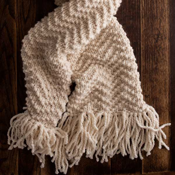 FREE Scarf Knitting Pattern : Chevron Scarf : Brome Fields