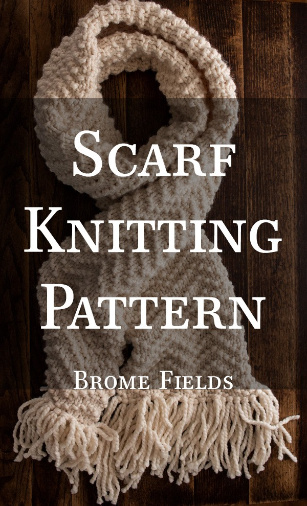 CHEVRON : Scarf Knitting Pattern by Brome Fields