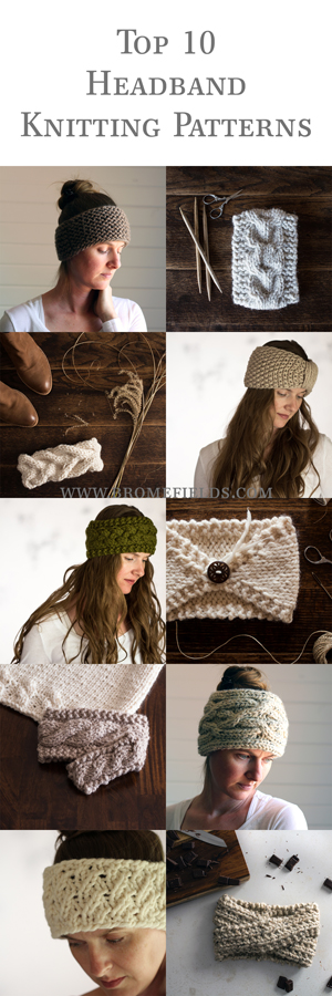 Top 10 Headband Knitting Patterns Bundle