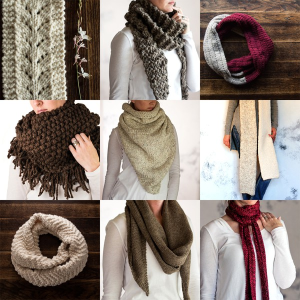 Top 10 Scarf Knitting Patterns by Brome Fields