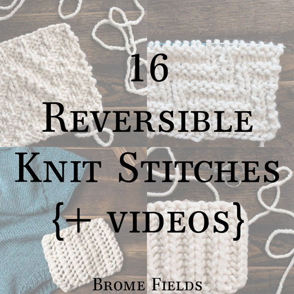 16 Reversible Knit Stitches eBook