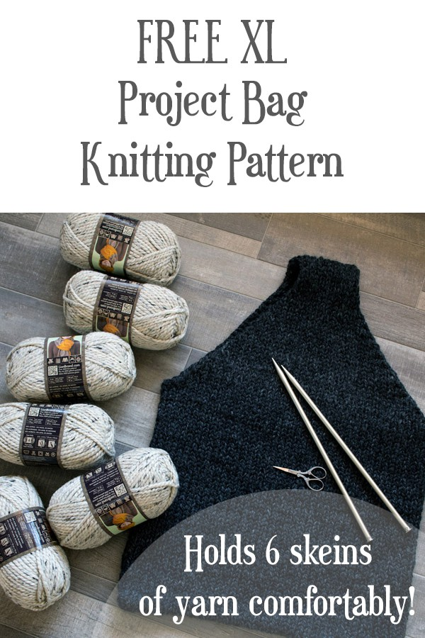 FREE XL Project Bag Knitting Pattern by Brome Fields