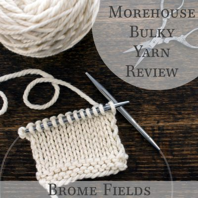 Video Yarn Review! See how it knits up! Morehouse Farms, Bulky Yarn... it's a must have!