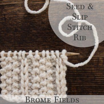 Seed & Slip Stitch Rib Knit Stitch