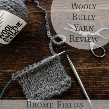 Video Yarn Review! See how it knits up! Wool and the Gangs Wooly Bully Yarn!
