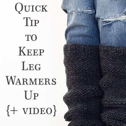 How to Switch Needle Size to Keep Leg Warmers Up