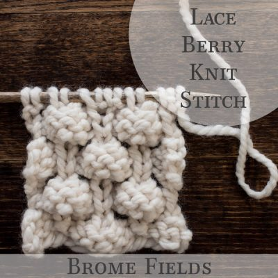 Knit Stitch Video: How to Knit the Lace Berry Knit Stitch
