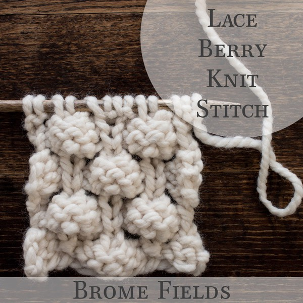 Lace Berry Knit Stitch Video Brome Fields